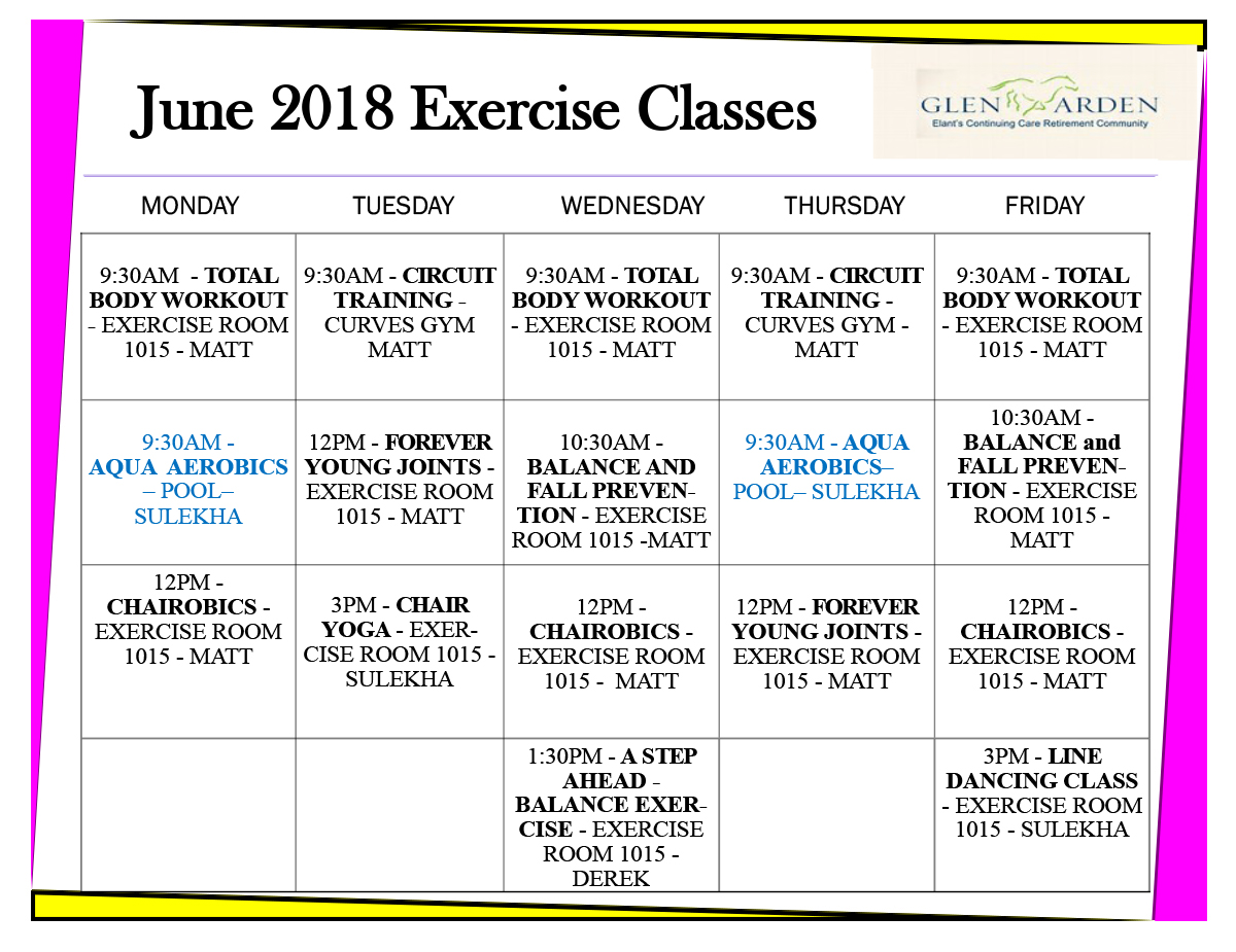 Exercise at Glen Arden