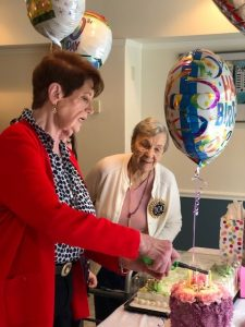 Estella Schulman celebrates her 100th birthday at Glen Arden in Goshen, NY